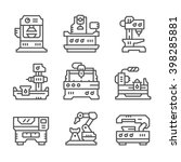 set line icons of machine tool   Shutterstock .eps vector #398285881