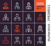 professions icons set  people... | Shutterstock .eps vector #398288011