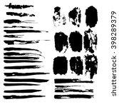 brush stroke set. | Shutterstock .eps vector #398289379