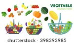 basket with vegetables  raster... | Shutterstock . vector #398292985