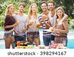 group of friends having... | Shutterstock . vector #398294167