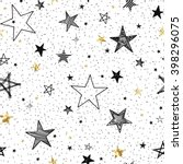 seamless pattern with hand... | Shutterstock .eps vector #398296075