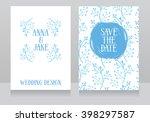 two beautiful wedding... | Shutterstock .eps vector #398297587