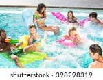 happy friends enjoying their... | Shutterstock . vector #398298319