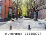 sunny day at the street in... | Shutterstock . vector #398300737