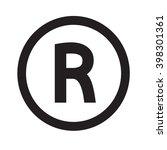 basic font letter r icon... | Shutterstock .eps vector #398301361