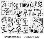 idea   arrows   doodles set   Shutterstock .eps vector #398307139