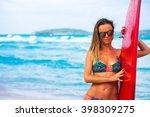 young beautiful sport woman... | Shutterstock . vector #398309275