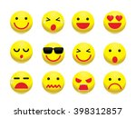 emotion face icon set. simple... | Shutterstock .eps vector #398312857