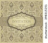 retro invitation or wedding... | Shutterstock .eps vector #398315251
