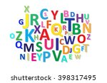 alphabet letters color vector | Shutterstock .eps vector #398317495