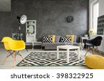 grey living room with sofa ... | Shutterstock . vector #398322925