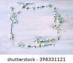 spring frame .spring background ... | Shutterstock . vector #398331121