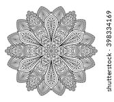 outline mandala for coloring... | Shutterstock .eps vector #398334169