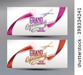grand opening banners with... | Shutterstock .eps vector #398334241
