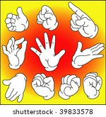 hand expressions in outline for ... | Shutterstock .eps vector #39833578