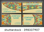 set of business card template ... | Shutterstock .eps vector #398337907