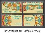 set of business card template ... | Shutterstock .eps vector #398337931
