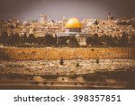Golden Dome Of The Rock And...