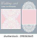 vector die laser cut wedding... | Shutterstock .eps vector #398363665