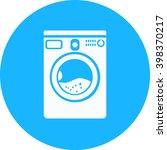 washer mashine icon | Shutterstock .eps vector #398370217
