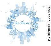 outline san francisco skyline... | Shutterstock .eps vector #398370919