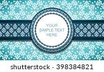 vintage card design for... | Shutterstock .eps vector #398384821