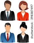 collection of head and shoulder ... | Shutterstock .eps vector #398387497