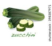 green zucchini vector... | Shutterstock .eps vector #398387971