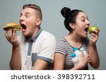 problem of choice of good food... | Shutterstock . vector #398392711