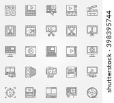 video editor icons set   video... | Shutterstock .eps vector #398395744