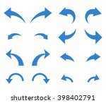 undo and redo vector icon set.... | Shutterstock .eps vector #398402791