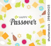 passover greeting card with... | Shutterstock .eps vector #398404435