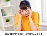 people  healthcare  stress and... | Shutterstock . vector #398412691