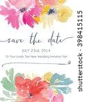 vector watercolor flowers save... | Shutterstock .eps vector #398415115