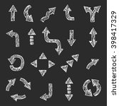 vector hand drawn arrow set.... | Shutterstock .eps vector #398417329
