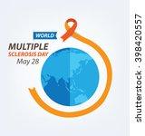 world multiple sclerosis day.... | Shutterstock .eps vector #398420557