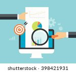business analytic graph report .... | Shutterstock .eps vector #398421931