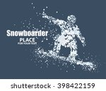 skiers particle divergent... | Shutterstock .eps vector #398422159