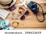 tourism planning and equipment... | Shutterstock . vector #398423659