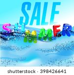 beautiful water surface... | Shutterstock .eps vector #398426641
