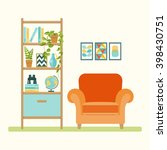 home furniture. set of elements ... | Shutterstock .eps vector #398430751
