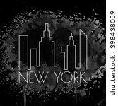 banner with new york city ... | Shutterstock .eps vector #398438059