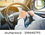 photo of driver honking in... | Shutterstock . vector #398440795