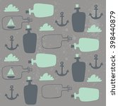 Sea Bottle Pattern Vector Design
