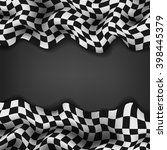 checkered flag and space for...   Shutterstock . vector #398445379