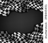 checkered flag and space for... | Shutterstock . vector #398445451