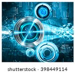 blue abstract vector hi speed... | Shutterstock .eps vector #398449114