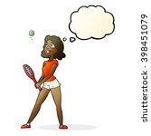 cartoon woman playing tennis... | Shutterstock .eps vector #398451079