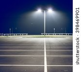 Parking Lot With Street Light...